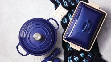 Le Creuset's Launching A New Indigo Line That Looks Like The Midnight Sky
