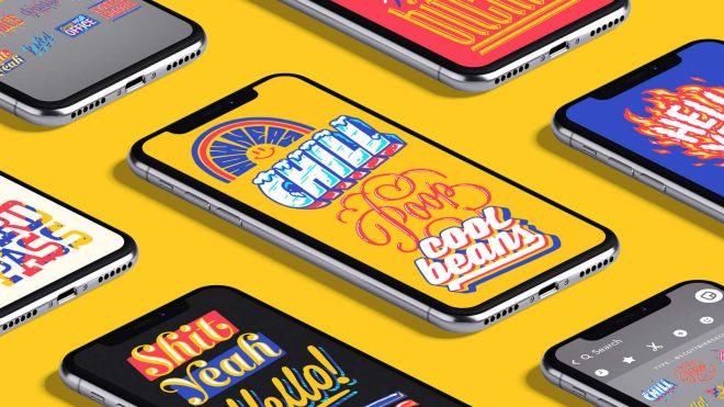 Snapchat's Typographic & Illustrative Sticker Packs by Scott Biersack