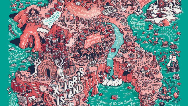 Illustrators dream up imaginary islands in a new book