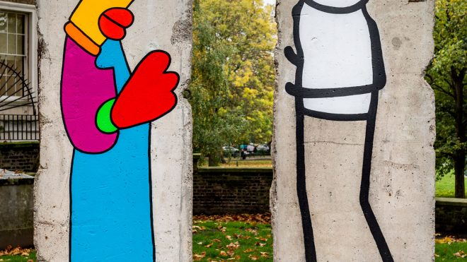 Thierry Noir and STIK repaint the Berlin Wall 30 years after its fall