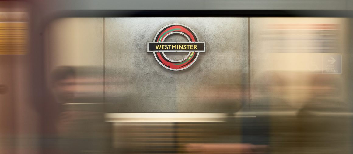 Westminster Tube roundel is reimagined in Pan African colours