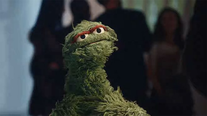 Oscar the Grouch swaps Sesame Street for Squarespace