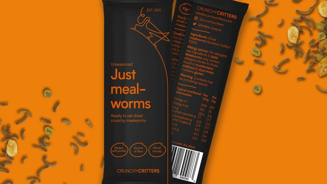 A tasty new look for edible insect brand Crunchy Critters