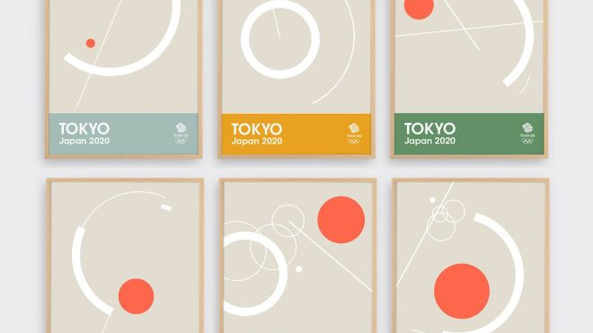 Team GB launches series of minimalist screenprints ahead of Toyko 2020