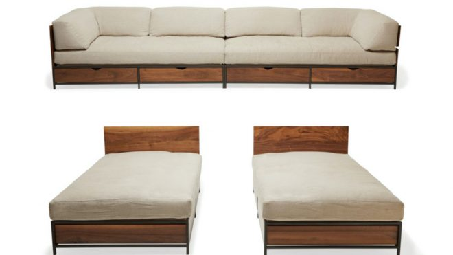Stephen Kenn's new sofa turns into the perfect guest bed