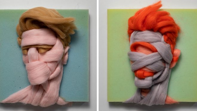 Unspun Wool Sculpted into Intimate Portraits by Artist Salman Khoshroo