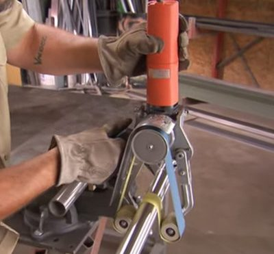 Watching Handrail Manufacturers Use a Special Tool to Smooth Welds is Wildly Satisfying - Core77