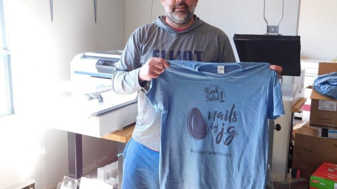 Local graphic artist launches 'Rock Solid' t-shirt campaign