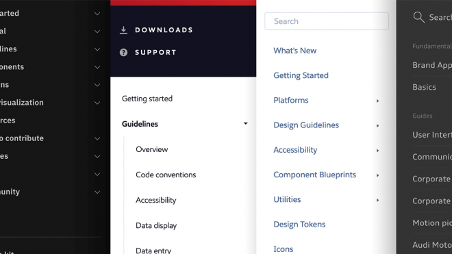 Useful Sections for a Design System Reference Site