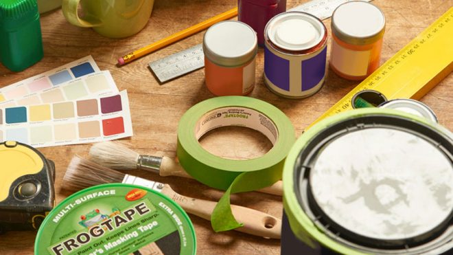 DIY fans get creative with £6 FrogTape – a must-have for feature walls