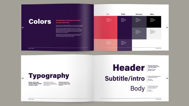 Adobe InDesign Template: Brand Guide Book Layout