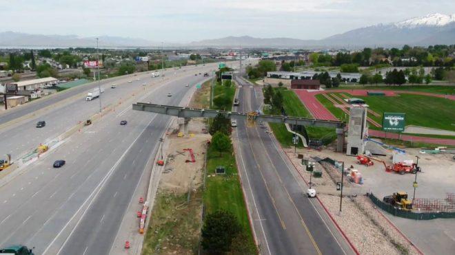 NB I-15 in Orem to close overnight for UVU pedestrian bridge construction