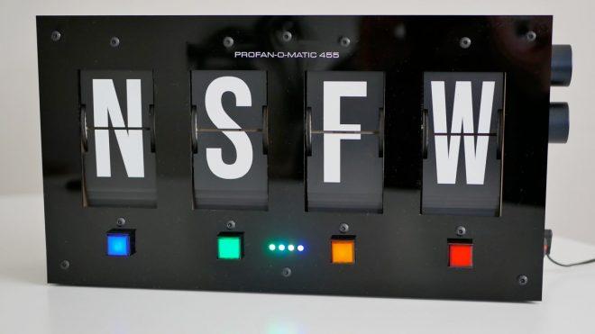 Automatic swear machine