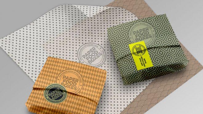 Paper Packaging Design Mockups for Adobe Photoshop