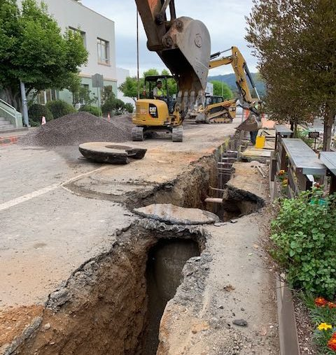 Ukiah Streetscape work on Standley St extended, parking enforcement resumes • The Mendocino Voice