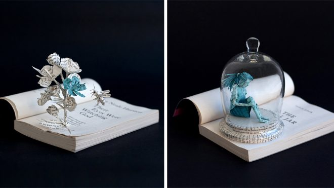 Paper Figures and Objects by Bethany Bickley Spring From Book Pages