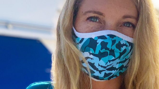 PADI is making face masks from recycled ocean plastic
