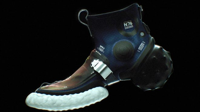 Futuristic Footwear for the 'space-age' showcases an innovative outsole