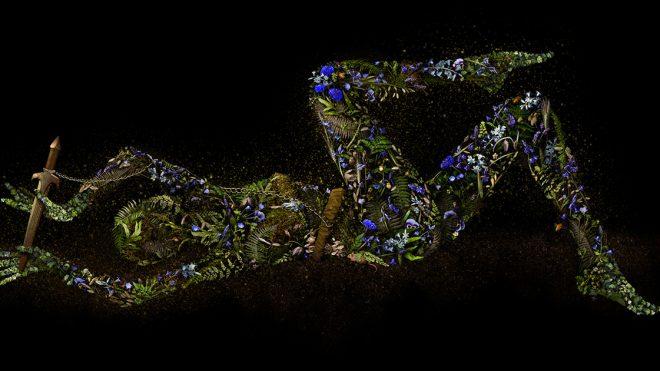 Homegrown Botanics Collaged into Conflict-Ridden Figures by Artist Meggan Joy