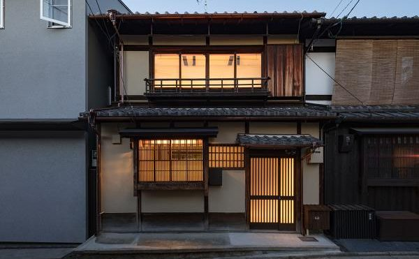 kooo architects renovates traditional Japanese machiya house with light interiors in Kyoto, Japan