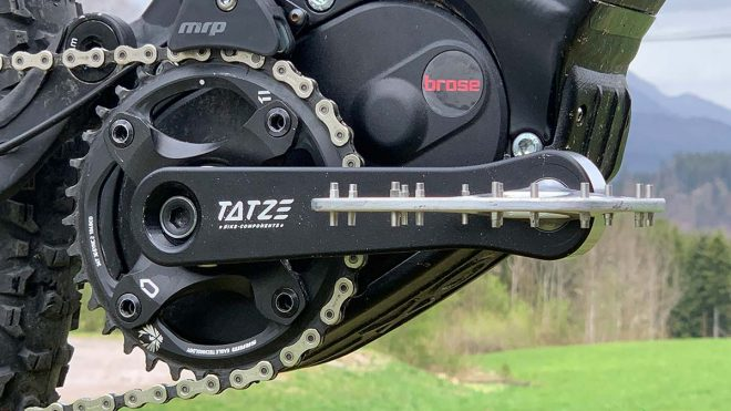 Found: Tatze Blade flat pedals are just 3mm thick, w/bearing housed in custom crank arm - Bikerumor