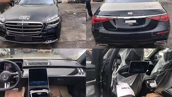 New Mercedes S-Class Leaks Out, Showing Wildly Modern Interior