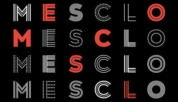 Type Tuesday: Mesclo's Delightful Geometry - Print Magazine