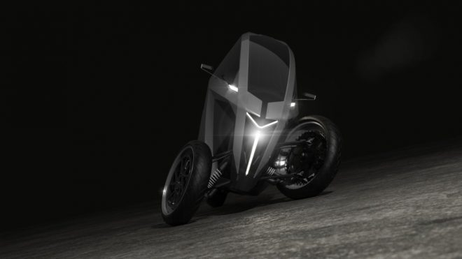 Lithuanian startup AKO shows off leaning electric three-wheeler with 300 km range - Electrek