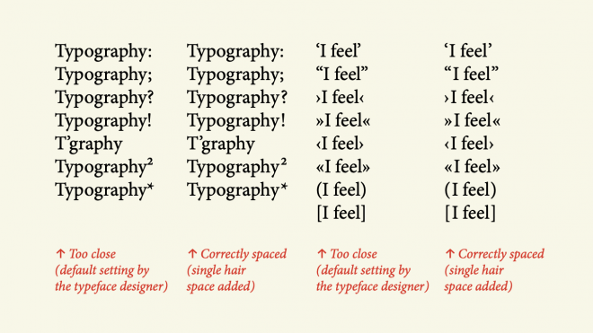 Micro-Typography: How To Space And Kern Punctuation Marks And Other Symbols