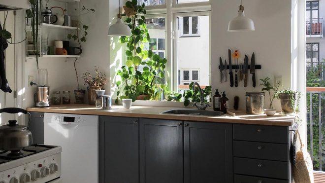 Kitchen of the Week: A Light-Filled Copenhagen Kitchen, Ikea Hack Included - Remodelista