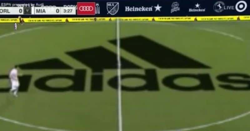 Giant Adidas logo in the middle of MLS field pitch distracts fans, Angry Internet calls it the 'ugliest s**t'
